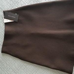 Zara Chocolate Brown Flare Skirt